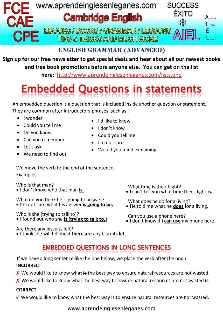 Embedded question advanced grammar fce cae cpe cambridge english embedded question advanced grammar fce cae cpe cambridge english grammar fandeluxe Images