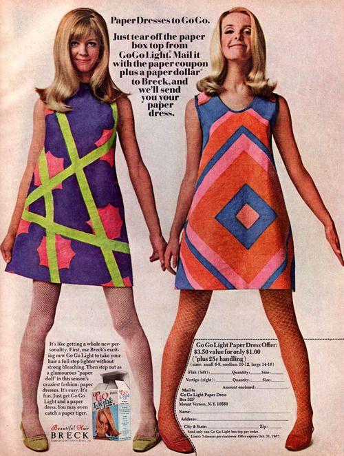 go go light paper dresses 1967 vintage fashion pinterest mode kleider und modetrends. Black Bedroom Furniture Sets. Home Design Ideas