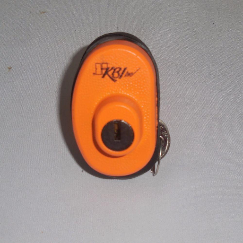 KBI Keyed Trigger Safety Orange Steel Storage Gun Lock NEW #KBI