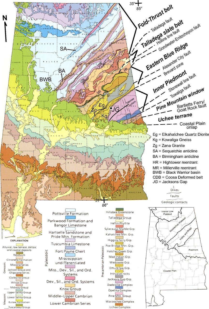 Geologic map of Alabama  Geology  Pinterest  Alabama and Geology