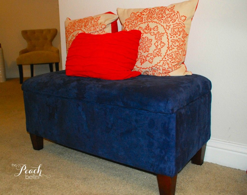 Sensational How To Re Cover A Storage Ottoman The Peach Bellini For Uwap Interior Chair Design Uwaporg