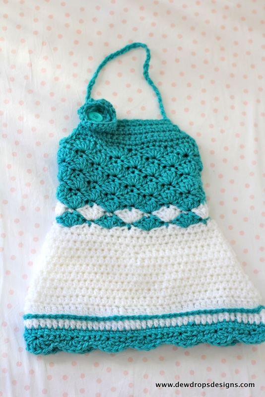 Pattern Crochet Halter Neck Dress/Top Summer por DewdropsDesign ...