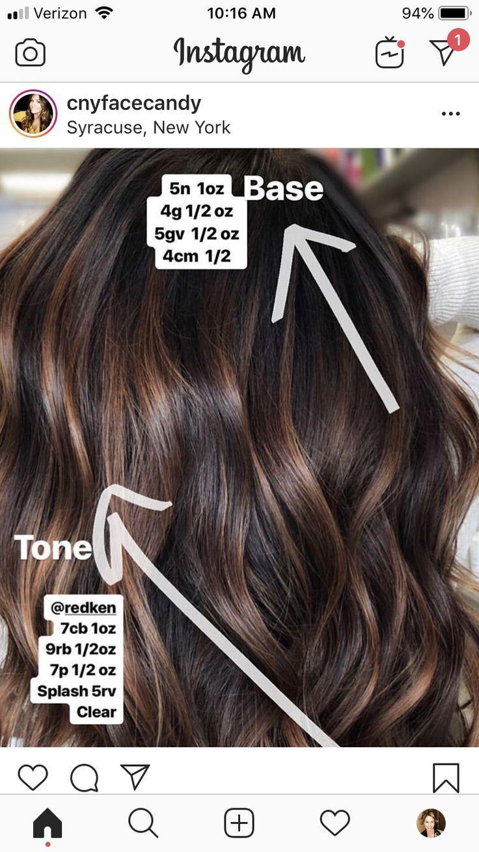 Toner Hair Color Formulas Brown Hair Balayage Balayage Hair