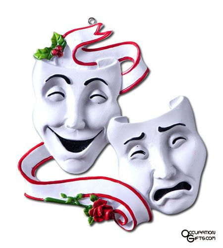 Drama Masks Ornament Actor Gifts Pinterest The O