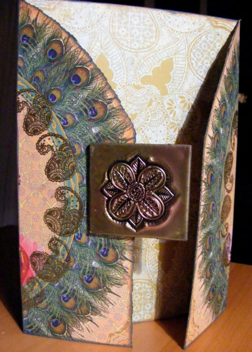 Thank You Card using Dove of the East India Journey stamps and papers by MJM the Art Tart