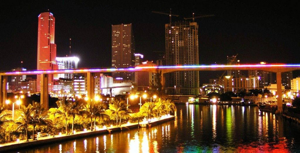 Miami Glows At Night