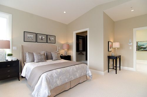 Pink Beige Carpet And Headboard Skirt Green Beige Walls Taupe Accent Pillows And Coverlet And Blu Neutral Bedroom Design Bedroom Colors Bedroom Color Schemes