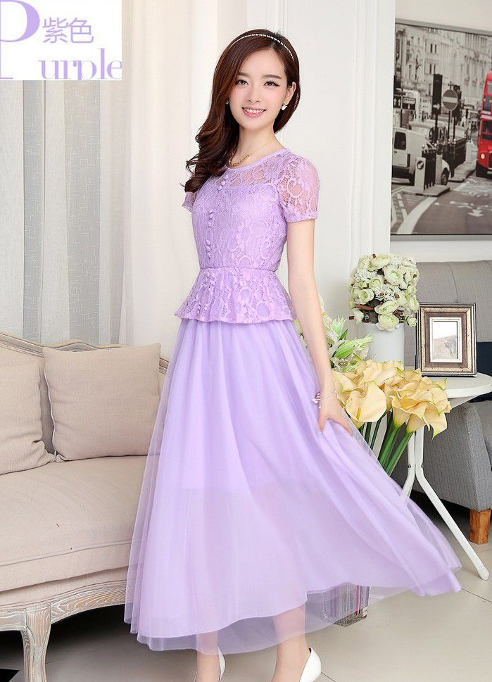 Jual Long Dress Pesta Brokat Cantik Iken Dress Pesta Fashion