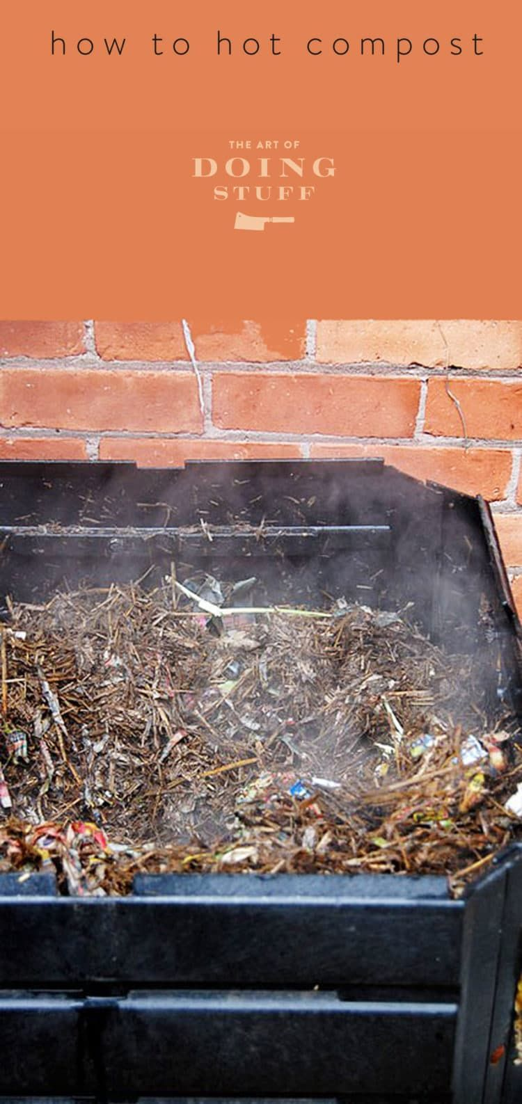 HOW TO HOT COMPOST Manure composting, Compost, Garden