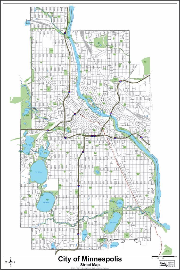 Minneapolis street map