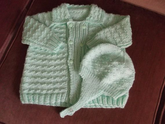 Vintage Style Double Breasted Baby Coat with Matching Helmet Hat Baby Sweater Set