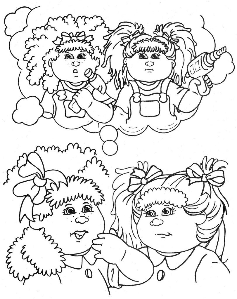 cabbage patch kids coloring pages | Cabbage patch kids coloring pages