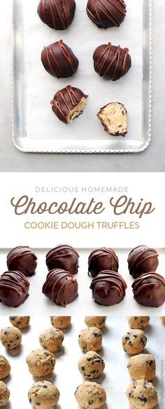 You wouldn't believe how easy these Chocolate Chip Cookie Dough Truffles are to make! #recipe