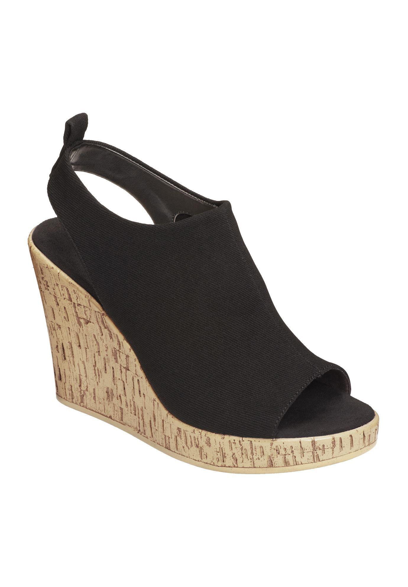 Womens Sandals Aerosoles World Traveler Black Fabric
