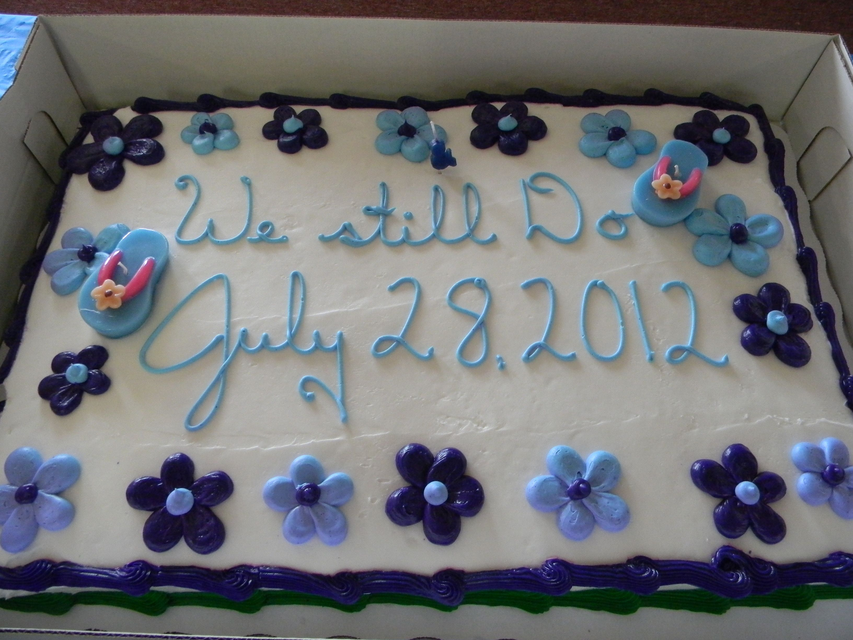 Our cake from Walmart. A full sheet cake in chocolate with ...