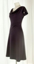Free pattern: Cowl neck jersey dress with angled pleated waist   Sewing   CraftGossip.com
