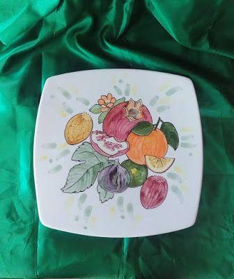 SolArt ceramiche artistiche di Ivana e Caterina:  piatto da appendere decorati a mano