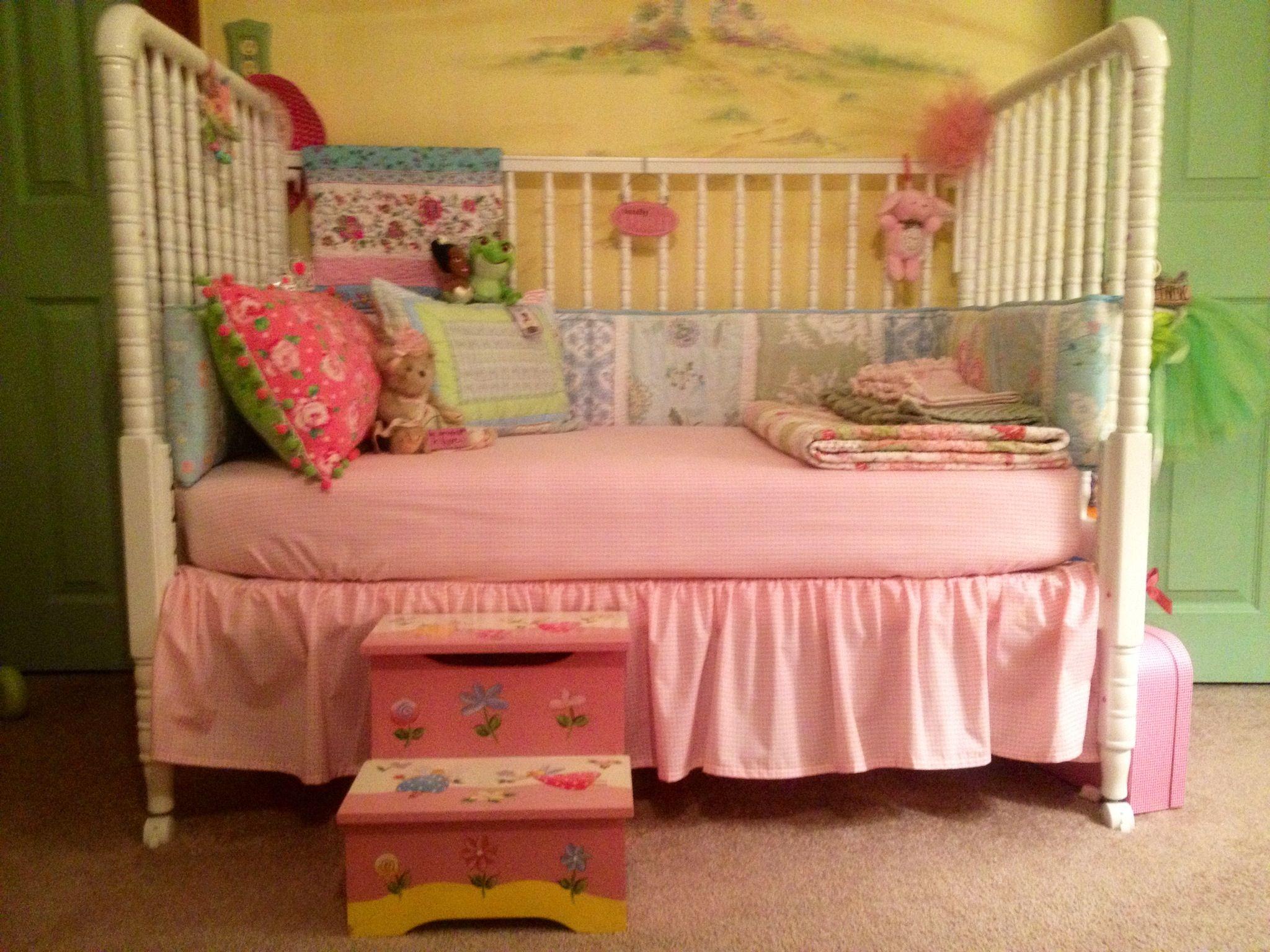 Princess Granddaughter's Big Girl Bed at Nanny & Papi's House...So Sweet!