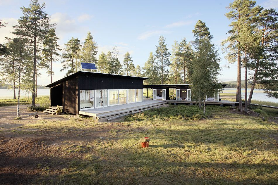Summer lake house in Dalarna, Sweden. Photography.