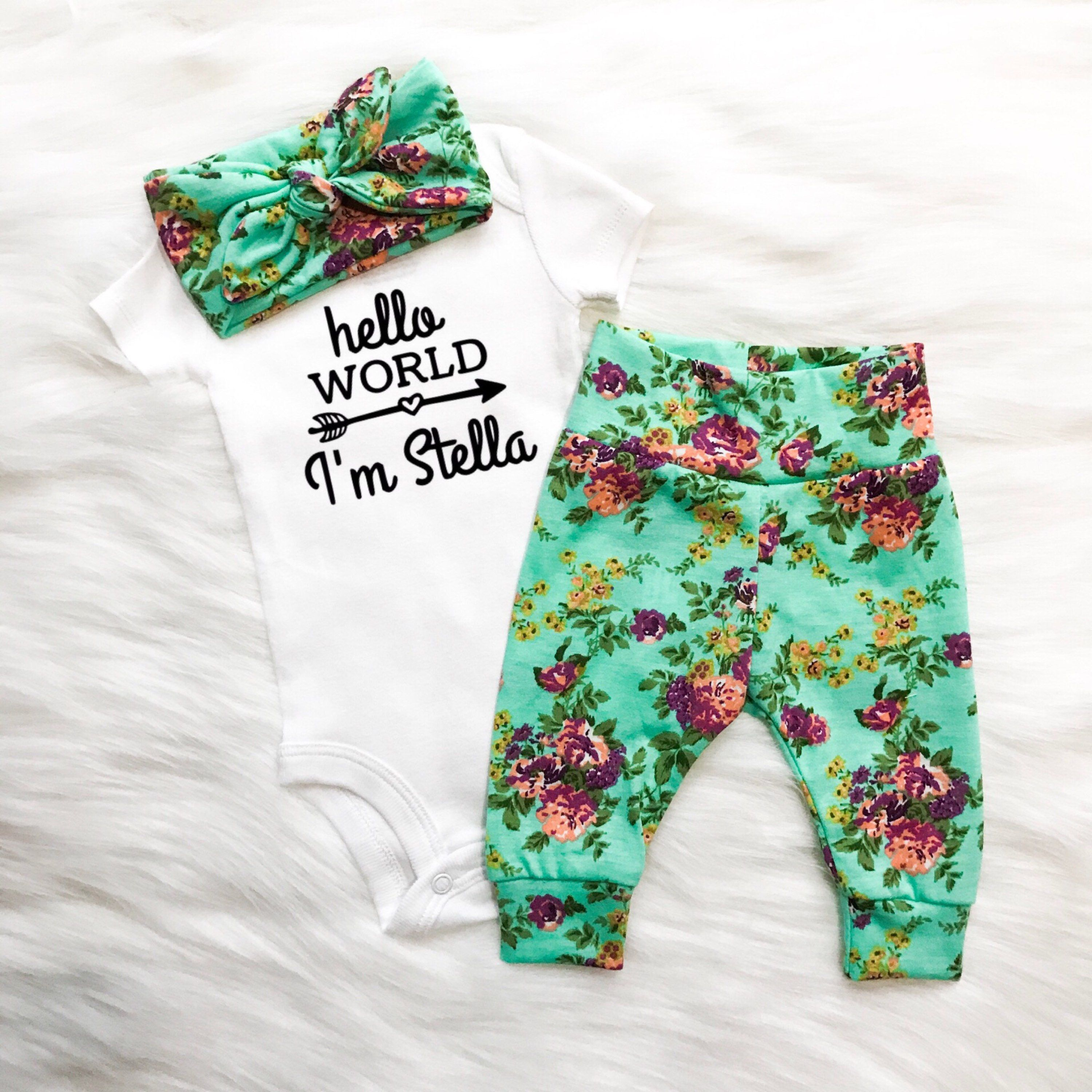 green floral baby girl cute baby clothes etsy baby boutique floral