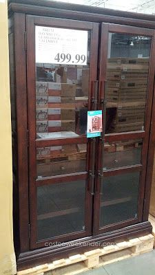 Bayside Furnishings Valemont Glass Door Bookcase At Costco
