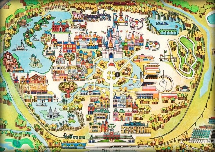 Early walt disney world map disney maps blueprints ride layouts early walt disney world map gumiabroncs Image collections