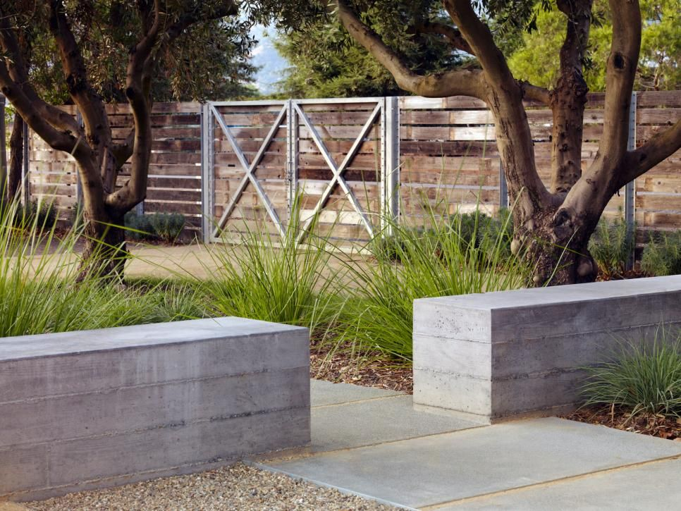 14 Ways To Design A Space With Pavers Hgtv Concrete Retaining Walls Modern Landscaping Wall Seating