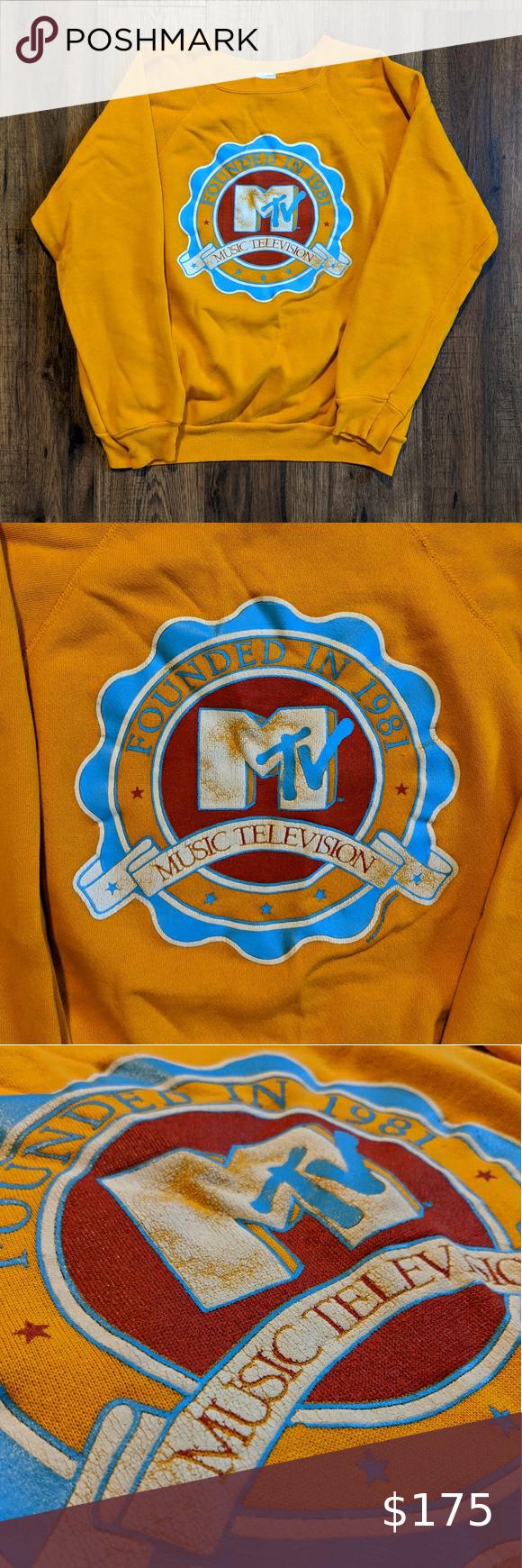Rare Mtv Crewneck Sweatshirt Vintage 1985 Vintage Sweatshirt Vintage Crewneck Sweatshirt Vintage Crewneck [ 1740 x 580 Pixel ]