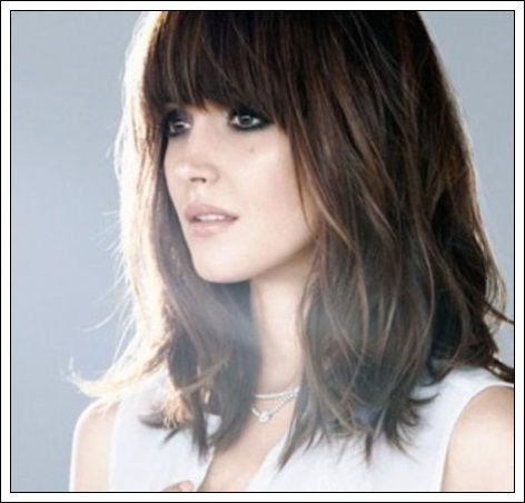 Long Bob Haircuts With Bangs Pictures