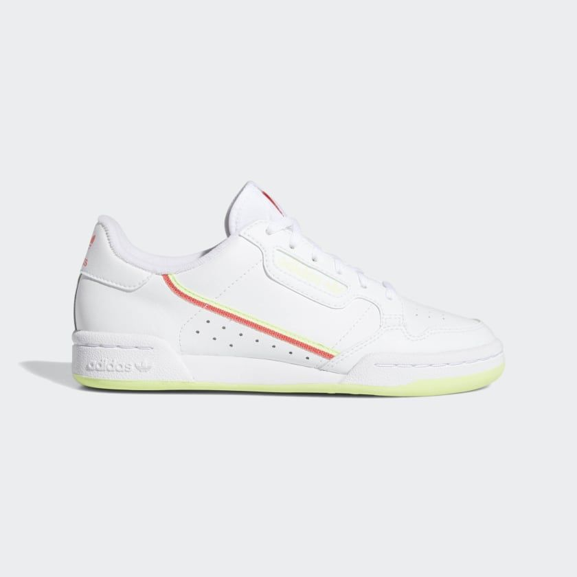 Continental 80 Shoes Cloud White Shock Red Hi Res Yellow Ee4412 Top Leather Shoes Shoes Sneakers Adidas Shoes