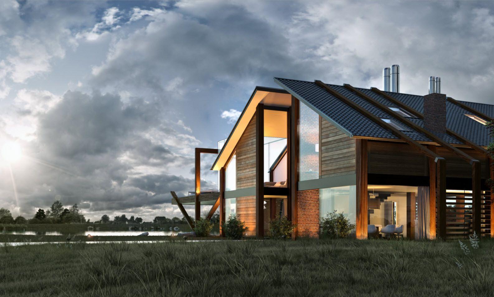 diseo de casa moderna con madera buscar con google