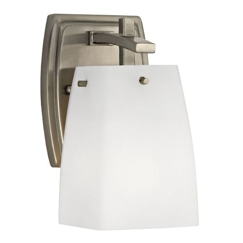 Buy Design Classics Lighting Wall Sconce Light in Satin ... on Decorative Wall Sconces Candle Holders Chrome Nickel id=84947