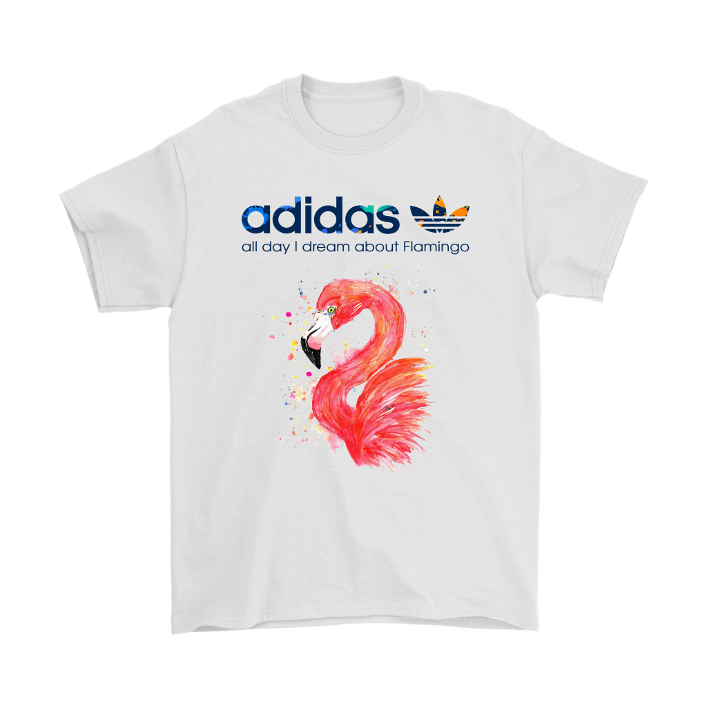 Water Color Adidas All Day I Dream About Flamingo Shirts