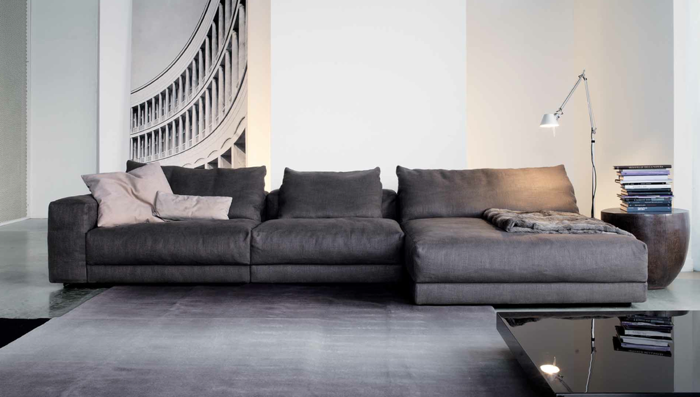 HILLS SOFA / SECTIONAL Materials: Wood Support Structure, Polyurethane Foam  + Goose Feathers.