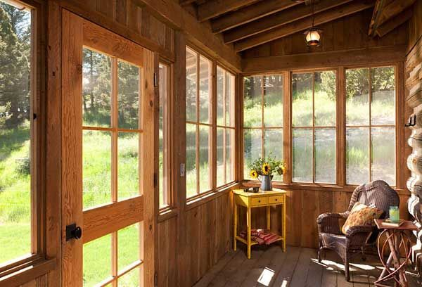 Rustic Winterized Enclosed Porches Yahoo Image Search Results Screened Porch Decorating Cabin Porches Screened In Porch Furniture