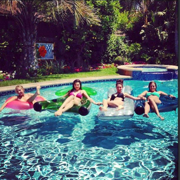 Ryan Newman - Instagram Pool Party