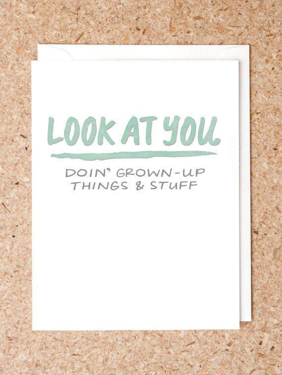 Funny new job card Graduation card wedding card Expecting parents card Pun card Best friend card Congratulations card