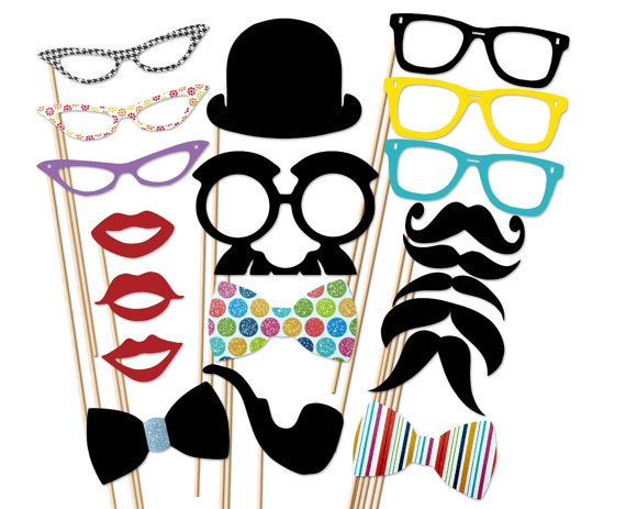 Great props for wedding photo booth!