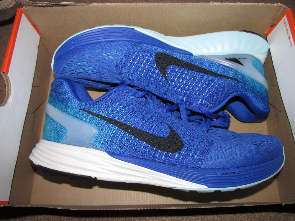 90fec951715b7 Nike Lunarglide 7 Mens Running Shoes 14 Game Royal Black Blue Lagoon 747355  401  Nike  RunningCrossTraining