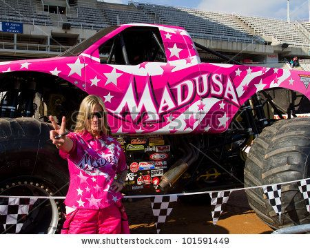 Madusa Monster Truck   driver of Madusa Monster Truck poses for