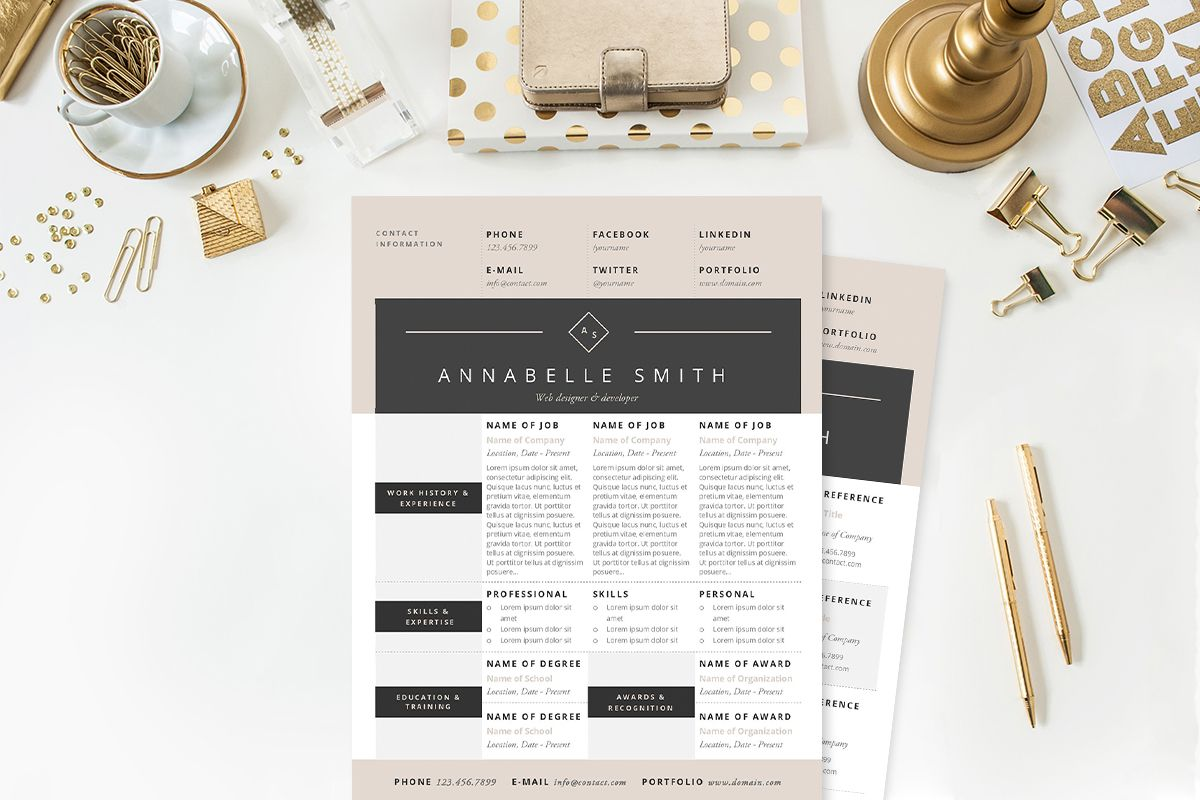 Elegant Resume Template  Saved For The Header  Cvs