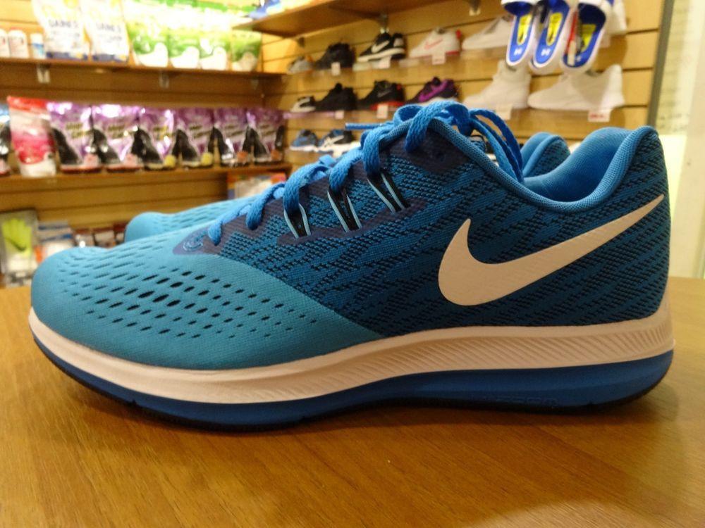 timeless design 5d769 a1239 Sports shoes blue green Nike Mens Air Zoom Winflo 4 Running Shoe 898466-401