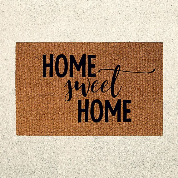 Home Sweet Home Doormat – Welcome Mat - Outdoor Rug – Welcome Mat - Home Decor - Housewarming Gift - Custom Gift