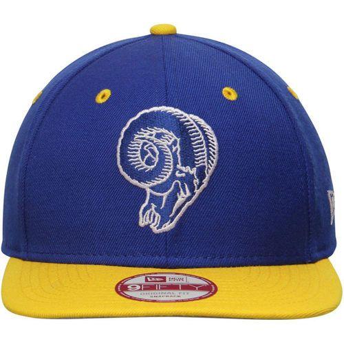 95688cd9559 New Era NFL Los Angeles Rams Old School Logo 2 Tone Snapback Cap 9Fifty  NewEra