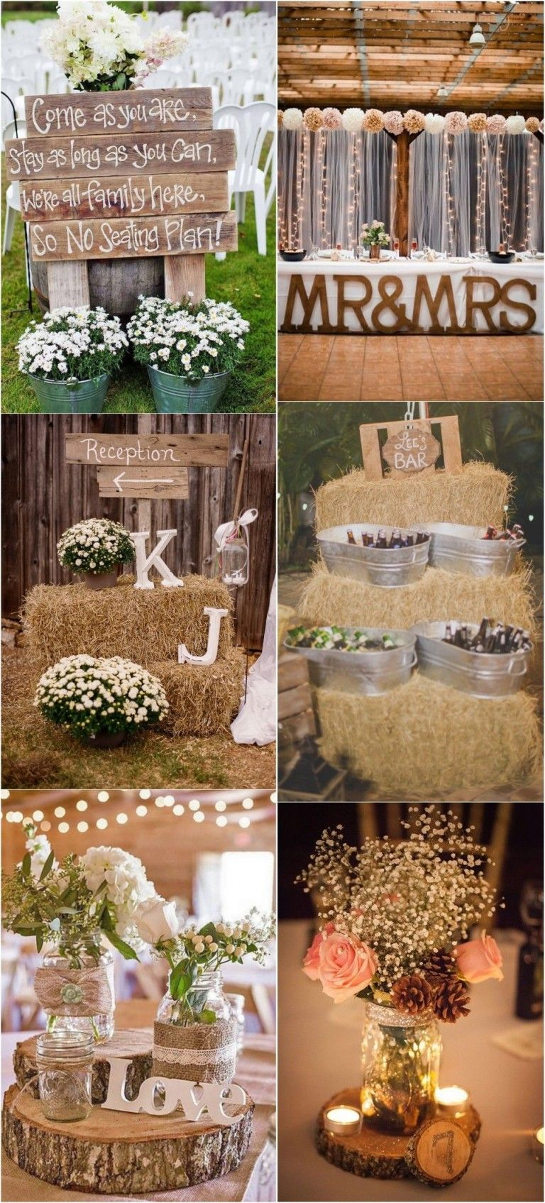 Wedding room decoration ideas 2018   Rustic Country Wedding Ideas to Shine in   Wedding