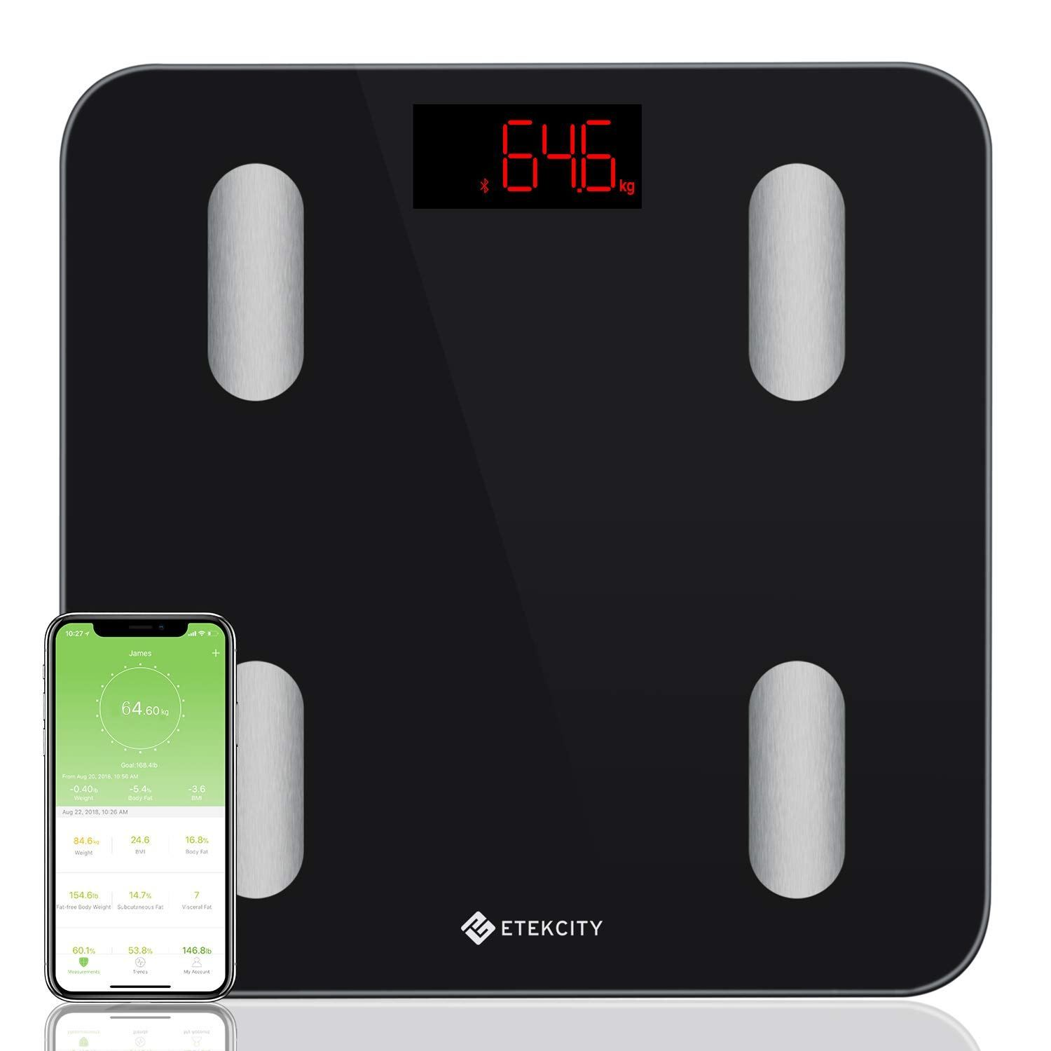 . Etekcity Bluetooth Body Fat Scales  Digital Wireless Weight Bathroom