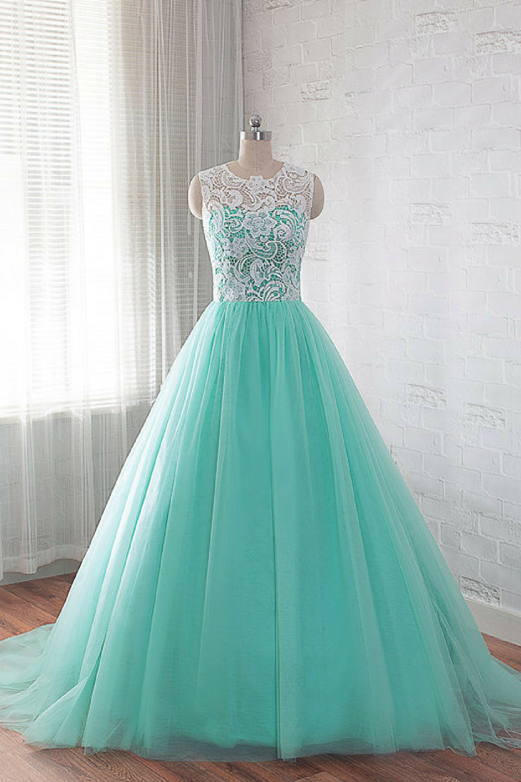 Beautiful Tulle and Lace Prom Gown | Lace Ball Gown | Party Dress ...