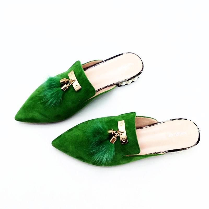7c8936b4331 Fur Tassel Suede Mules - 3 Colors in 2019 | Products | Mules shoes ...