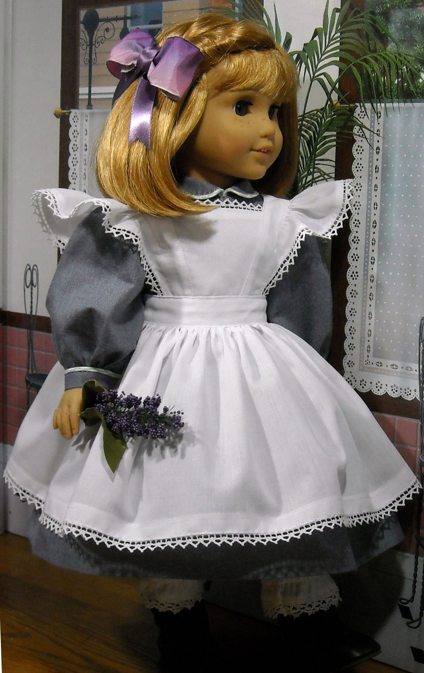 White pinafore apron costume - We Love The Sweet White Pinafore That Kathy K Made For American Girl Nellie Using Our