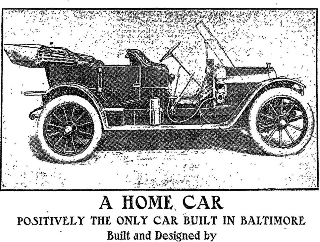 Ad for BaltimoreBuilt Spoerer Car in 1911 1910s Car